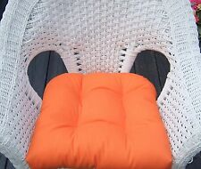 U Shape Tufted Wicker Style Cushion for Chair Seat ~Select Solid Colors ~Outdoor