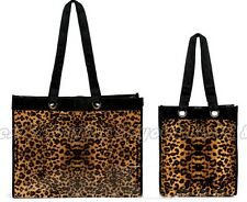 NEW Reusable Leopard Waterproof Tote Small/Large Shopping Beach Storage Bags