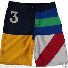 "RALPH LAUREN boys BOARD SHORTS Swim Swimming Trunks 8/9Y w/ 8.5"" inseam BNWT"