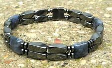 Men's Women's Magnetic Bracelet Anklet SUPER STRONG Clasp SODALITE 2 row Gauss+