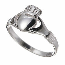 925 Sterling Silver Celtic Claddagh Ring (Sizes J - R)