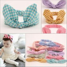 Baby Toddler Girl Kids Stretch Rabbit Bow Turban Knot Headbands Spots Head Wrap