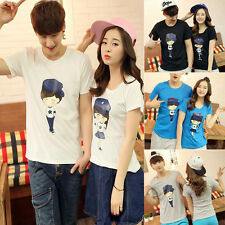 Men Women Couple Tops T Shirt Summer Fashion Clothes Boy Girl Casual Printed