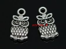 Wholesale 40/240pcs Tibet Silver owl Jewelry Finding Charms pendant DIY 15x8mm