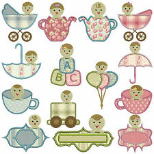 PEEK A BOO BABY * Machine Applique Embroidery Patterns * 14 Designs, 2 Sizes