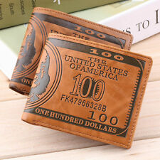 MENS COOL COWBOY LEATHER WALLET ID CARD CREDIT CARD HOLDER WALLET BIFOLD