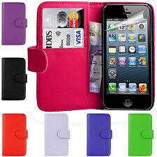 PU Leather Wallet Magetic Book Flip Phone Case Cover For Apple iPhone 4 4S 4G