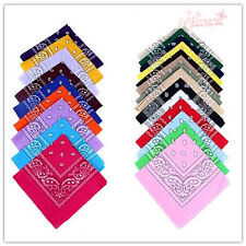 New  Cotton Paisley Bandanas Double Sided Head Wrap Scarf Wristband 22X22""