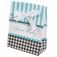 Baby Shower Favor Boxes - BLUE - for Favors at Your Baby Shower - Sweet Baby Boy