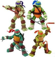 4Pcs Les Tortues Ninja TMNT Figurines Michelangelo Donatello Leonardo Raphael