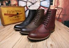 NEW MENS OXFORD BROGUE LACE UP ANKLE BOOTS WING TIP CASUAL DRESS CHUKKA SHOES #