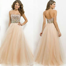 Sequins Evening Party Cocktail Prom Gown Bridesmaid Wedding Maix Long Dress