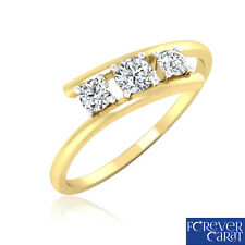 0.27 Ct Certified Natural & White Diamond Ring 14k Hallmarked Gold Jewellery