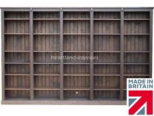 Solid Pine Library Bookcase, 7ft x 11ft Heavy Duty Display Shelving, Bookshelves