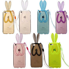 For Iphone 5 5s 6 6plus Rabbit Ear gel skin case cover