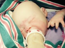 newborn girl reborn Quinton, by Marissa May! baldy baby! open mouth for bottles!