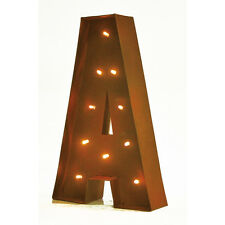 """11"""" VINTAGE STYLE DECORATIVE LED LIGHT LETTERS - RUSTIC RETRO WALL MOUNT LETTER"""