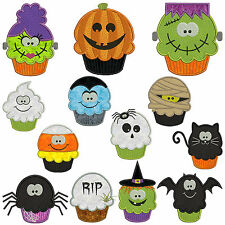 * HALLOWEEN CUPCAKES * Machine Applique Embroidery Patterns * 13 x 2 sizes