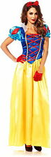 Disney's Snow White Movie Lace Up Bodice Dress Princess Adult Halloween Costume