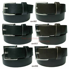 30mm Black New High Quality Mens Waxi Jean And Trouser Leather Belt Made In UK