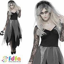 GRAVEYARD BRIDE ZOMBIE HALLOWEEN - UK 8-22 - womens ladies fancy dress costume