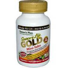 "3 BOTTLES NATURE'S PLUS SOURCE OF LIFE ""GOLD"" MINI TABS 180 COUNT *$180 VALUE*"