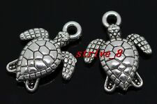 60/300pcs Tibetan Silver Lovely tortoise Alloy Jewelry Charms Pendant 16x12mm