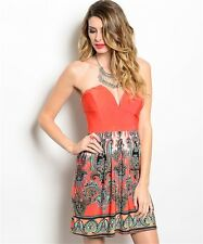 Orange Paisley Summer Dress