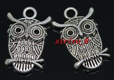30/150pcs Tibetan Silver exquisite owl Alloy Jewelry Charms Pendant 23x15mm
