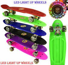 """22"""" New Penny Style With LED Light Up Wheels Complete Deck Mini Skateboard"""