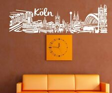 Mural tattoo Cologne City Germany Skyline Wall Sticker Mural 1M620