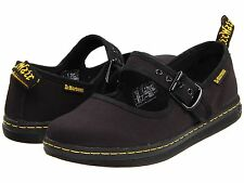 Women's Shoes Dr. Martens Carnaby Canvas Mary Jane Flats 13526002 Black *New*