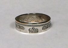 Russian Empire Silver Coin 20 kopeks  handmade coin ring size 4-8