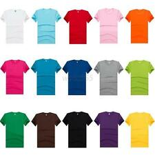 Casual Mens Crew Neck Solid Color T-shirt Short Sleeve Tee Shirt S-XXXL