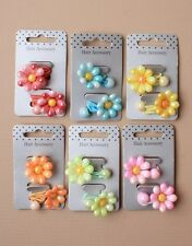 2 Brightly coloured pearlised finish plastic daisy bobbles gift loot bag ideas