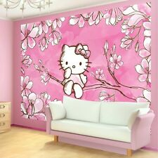 PHOTO WALL MURAL WALLPAPER WALLCOVER HOME DECOR HELLO KITTY ON A BRANCH 454VE