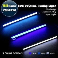 2 x Superior Car LED COB  DRL Fog Driving Lamps Daytime Time Running Lights