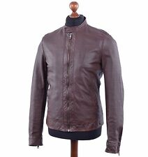 DOLCE & GABBANA Perforated Leather Jacket Brown 03782