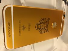 IPHONE 6 16GB   24CT 24K GOLD&DIAMOND TIGER LIMITED SPECIAL EDITION UNLOCKED