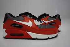 (307793-602) GS YOUTH NIKE AIR MAX 90 UNIVERSITY RED/WHITE/METALLIC COOL GREY