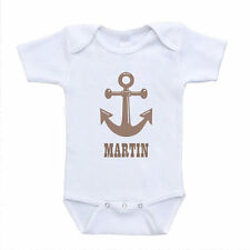 Anchor Name Baby Onesies Rompers Personalized Custom Clothing Shower Gift Ideas