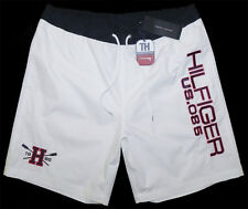 TOMMY HILFIGER BOARDSHORT BADESHORT SURFSHORT BADEHOSE WHITE ALL SIZES