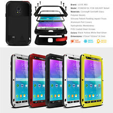 Shock/Water Proof Aluminum Metal Gorilla Case Cover For Samsung Galaxy Note 4