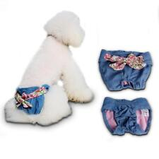 Female Pet Dog Cowboy Bowknot Physiological Diaper Sanitary Underwear Size S/M/L