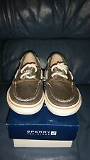 Sperry Top-Sider Toddler Boy's Halyard Brown Casual Shoe