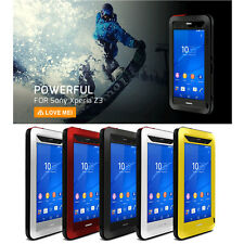 Waterproof Shockproof Aluminum Metal Gorilla Glass Case Cover For Sony Xperia Z3