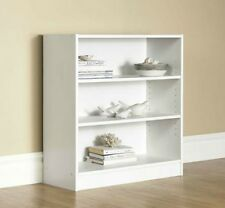 Wide Bookcase Office Bookshelf Furniture Adjustable Shelf Wood Storage Shelving