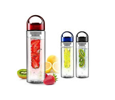 NEW 700ml Fruit Fuzer Fusion Water Bottle with Fruit Infuser Aqua Hydration
