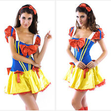 Costume carnevale donna sexy biancaneve abito travestimento helloween a-8301