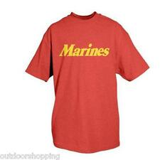RED MARINES GOLD IMPRINTED 1 SIDED T-SHIRT - Short Sleeve Tee